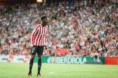 BILBAO, ESPAGNE - 28 AOÛT : Inaki Williams, joueur sportif de Bilbao de club, dans l'action pendant un match de ligue espagnol en Photo stock