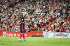BILBAO, ESPAGNE - 28 AOÛT : Lionel Messi, joueur de FC Barcelona, dans l'action pendant un match de ligue espagnol entre l'Athlet Images stock