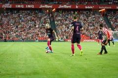 BILBAO, ESPAGNE - 28 AOÛT : Lionel Messi, joueur de FC Barcelona, dans l'action pendant un match de ligue espagnol entre l'Athlet Photos libres de droits