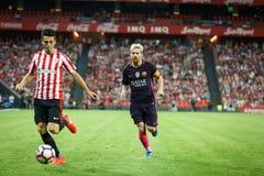 BILBAO, ESPAGNE - 28 AOÛT : Lionel Messi, joueur de FC Barcelona, dans l'action pendant un match de ligue espagnol entre l'Athlet Image stock