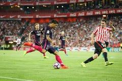 BILBAO, ESPAGNE - 28 AOÛT : Luis Suarez, joueur de FC Barcelona, dans l'action pendant un match de ligue espagnol entre l'Athleti Photos libres de droits