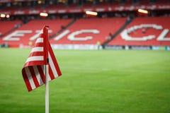 BILBAO, ESPAGNE - 28 AOÛT : Marquez le coin de champ dans la correspondance entre l'Athletic Bilbao et le FC Barcelona, célébrés  Image libre de droits