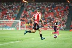 BILBAO, ESPAGNE - 28 AOÛT : Oscar de Marcos, joueur d'Athletic Bilbao, dans l'action pendant un match de ligue espagnol entre Bil Photographie stock