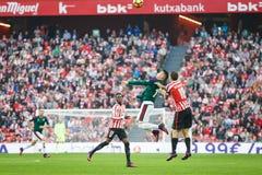 BILBAO, ESPAGNE - 30 OCTOBRE : Alejandro Berenguer, joueur d'Osasuna, dans l'action pendant, match de ligue espagnol de station t Images libres de droits