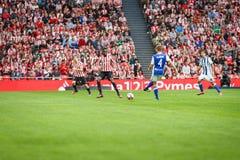 BILBAO, ESPAGNE - 16 OCTOBRE : Asier Illarramendi et Inaki Williams, pendant un match de ligue espagnol entre l'Athletic Bilbao e Image stock