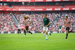 BILBAO, ESPAGNE - 30 OCTOBRE : Oriol Riera, joueur d'Osasuna, dans l'action pendant un match de ligue espagnol entre l'Athletic B Photographie stock
