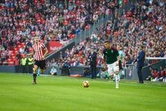 BILBAO, ESPAGNE - 30 OCTOBRE : Sergio Leon, joueur d'Osasuna, dans l'action pendant un match de ligue espagnol entre l'Athletic B Photo stock