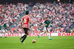 BILBAO, ESPAGNE - 30 OCTOBRE : Xabier Etxeita, joueur d'Athletic Bilbao, dans l'action pendant un match de ligue espagnol entre B Image libre de droits