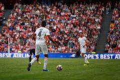 BILBAO, ESPAGNE - 18 SEPTEMBRE : Aderlan Santos, joueur de Valencia CF, dans le match de ligue espagnol entre l'Athletic Bilbao e Photos stock