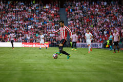 BILBAO, ESPAGNE - 18 SEPTEMBRE : Eneko Boveda, joueur de Bilbao, pendant un match de ligue espagnol entre l'Athletic Bilbao et le Image stock
