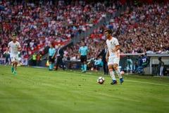 BILBAO, ESPAGNE - 18 SEPTEMBRE : Jose Luis Gaya, joueur de Valencia CF, pendant un match de ligue espagnol entre l'Athletic Bilba Images libres de droits