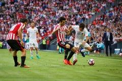 BILBAO, ESPAGNE - 18 SEPTEMBRE : Jose Luis Gaya, joueur de Valencia CF, pendant un match de ligue espagnol entre l'Athletic Bilba Image stock