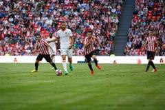 BILBAO, ESPAGNE - 18 SEPTEMBRE : Mario Suarez, joueur de Valencia CF, dans l'action pendant un match de ligue espagnol entre l'At Image libre de droits