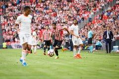 BILBAO, ESPAGNE - 18 SEPTEMBRE : Raul Garcia, joueur d'Athletic Bilbao, dans le match de ligue espagnol entre l'Athletic Bilbao e Photos libres de droits