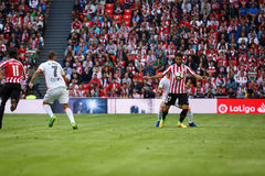 BILBAO, ESPAGNE - 18 SEPTEMBRE : Raul Garcia, joueur de Bilbao, dans l'action pendant un match de ligue espagnol entre l'Athletic Photographie stock libre de droits
