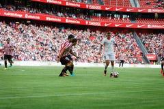 BILBAO, ESPAGNE - 18 SEPTEMBRE : Rodrigo Moreno, joueur de Valencia CF, dans l'action pendant la correspondance entre l'Athletic  image libre de droits
