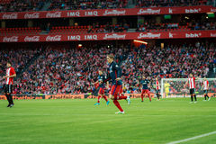 BILBAO, ESPANHA - 20 DE ABRIL: Fernando Torres na harmonia entre Athletic Bilbao e Athletico de Madri, comemorado o 20 de abril,  Imagem de Stock Royalty Free