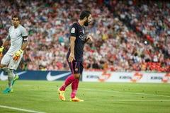 BILBAO, ESPANHA - 28 DE AGOSTO: Arda Turan, jogador do FC Barcelona, na ação durante uma harmonia de liga espanhola entre Athleti Imagem de Stock Royalty Free