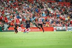 BILBAO, ESPANHA - 28 DE AGOSTO: Lionel Messi, jogador do FC Barcelona, na ação durante uma harmonia de liga espanhola entre Athle Foto de Stock
