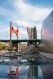 BILBAO, ESPANHA - 7 DE MARÇO: Museu de Guggenheim Bilbao o 7 de março de 2010 em Bilbao, Espanha Projetado por Frank Gehry, foi c Fotos de Stock