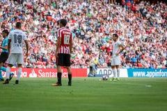 BILBAO, ESPANHA - 18 DE SETEMBRO: Dani Parejo, jogador de Valência, na ação durante uma harmonia de liga espanhola entre Athletic Foto de Stock