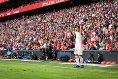 BILBAO, ESPANHA - 18 DE SETEMBRO: Gaya, jogador do Valencia CF, na ação durante uma harmonia de liga espanhola entre Athletic Bil Fotografia de Stock