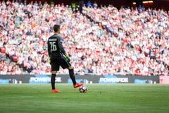 BILBAO, ESPANHA - 18 DE SETEMBRO: Kepa Arrizabalaga, goleiros de Bilbao, durante uma harmonia de liga espanhola entre Athletic Bi Fotos de Stock
