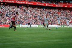 BILBAO, ESPANHA - 18 DE SETEMBRO: Rodrigo Moreno, jogador do Valencia CF, na ação durante a harmonia entre Athletic Bilbao e Valê Fotografia de Stock Royalty Free