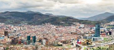 Bilbao från över Royaltyfri Fotografi