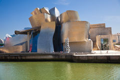 Bilbao Guggenheim Museum panoramic. Bilbao - April 5: The Guggenheim Museum Bilbao is a museum of modern and contemporary art designed by Canadian-American Stock Photography