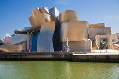 Bilbao Guggenheim Museum panoramic stock photography