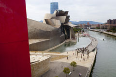 Bilbao Guggenheim museum. The Guggenheim Museum Bilbao is a registered trademark and that any use, commercial or non-commercial, needs prior authorization that Stock Photography