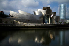 Bilbao Guggenheim Museum. The Guggenheim Museum Bilbao is a registered trademark and that any use, commercial or non-commercial, needs prior authorization that Royalty Free Stock Photography