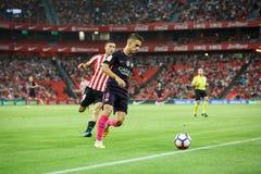 BILBAO HISZPANIA, SIERPIEŃ, - 28: Denis Suarez, FC Barcelona gracz w akci podczas Hiszpańskiego Ligowego dopasowania między Sport Obraz Royalty Free