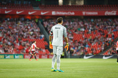 BILBAO HISZPANIA, SIERPIEŃ, - 28: Gorka Iraizoz, bramkarz Sportowy Bilbao w akci podczas Hiszpańskiego Ligowego dopasowania międz Zdjęcie Stock