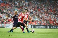 BILBAO HISZPANIA, SIERPIEŃ, - 28: Lionel Messi De Marcos w akci podczas Hiszpańskiego Ligowego dopasowania między, Oskar i Zdjęcia Royalty Free