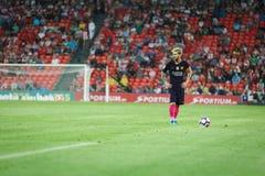 BILBAO HISZPANIA, SIERPIEŃ, - 28: Lionel Messi, FC Barcelona gracz w akci podczas Hiszpańskiego Ligowego dopasowania między Sport Zdjęcie Stock