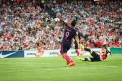 BILBAO HISZPANIA, SIERPIEŃ, - 28: Luis Suarez FC Barcelona w akci podczas Hiszpańskiego Ligowego dopasowania między Sportowym Bil Obraz Royalty Free