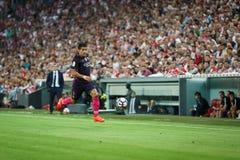 BILBAO HISZPANIA, SIERPIEŃ, - 28: Luis Suarez FC Barcelona w akci podczas Hiszpańskiego Ligowego dopasowania między Sportowym Bil Zdjęcie Royalty Free