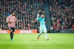BILBAO HISZPANIA, STYCZEŃ, - 05: Lionel Messi w akci podczas finał filiżanki Hiszpańskiego dopasowania między Sportowym Bilbao Ba Obraz Stock