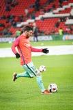 BILBAO HISZPANIA, STYCZEŃ, - 05: Lionel Messi w preheating finał filiżanki Hiszpański dopasowanie między Sportowym Bilbao i FC b Zdjęcie Stock