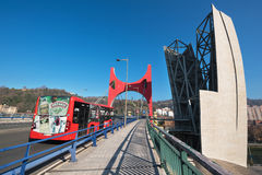 Bilbao Hiszpania, Styczeń, -, 4, 2017: Miastowy pejzaż miejski Bilbao miasto Fotografia Royalty Free