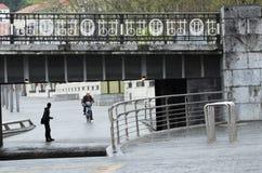 Bilbao i deszcz Zdjęcia Stock