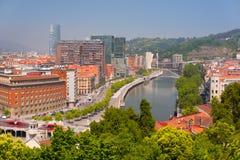Bilbao i en sommardag Arkivfoton