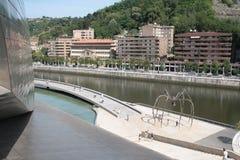 Bilbao, ideia do ` de Maman do ` da escultura da aranha pelo artista Bourgeois Imagens de Stock