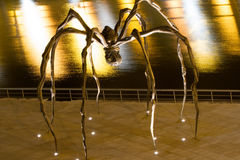 Maman at Guggenheim Museum Bilbao. BILBAO - JULY 21: Maman bronze, stainless steel, and marble sculpture by the artist Louise Bourgeois at The Guggenheim Museum Stock Images
