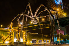 Maman at Guggenheim Museum Bilbao. BILBAO - JULY 21: Maman bronze, stainless steel, and marble sculpture by the artist Louise Bourgeois at The Guggenheim Museum Stock Photography