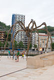 Maman at Guggenheim Museum Bilbao. BILBAO - JULY 21: Maman bronze, stainless steel, and marble sculpture by the artist Louise Bourgeois at The Guggenheim Museum Stock Image