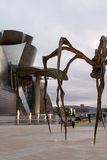 Maman at Guggenheim Museum Bilbao. BILBAO - JULY 21: Maman bronze, stainless steel, and marble sculpture by the artist Louise Bourgeois at The Guggenheim Museum Stock Photo