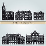Bilbao landmarks and monuments Royalty Free Stock Images